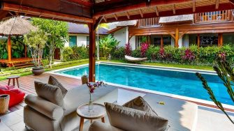 Villa Bibi Pool Side Seating Area, Kerobokan | 5 Bedroom Villas Bali