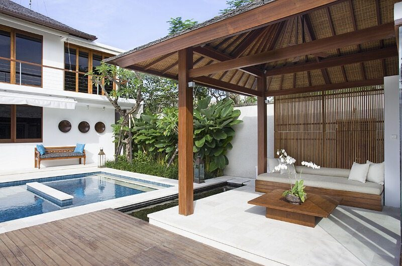 Villa Cendrawasih Pool Side Seating Area, Petitenget | 5 Bedroom Villas Bali