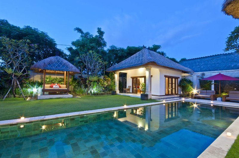 Villa Darma Swimming Pool at Night, Seminyak | 5 Bedroom Villas Bali