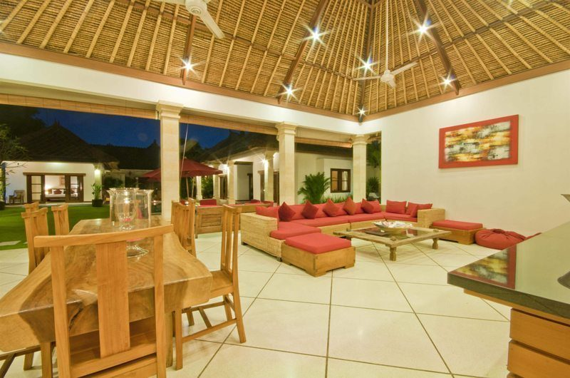 Villa Darma Living and Dining Area, Seminyak | 5 Bedroom Villas Bali