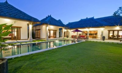 Villa Darma Gardens and Pool at Night, Seminyak | 5 Bedroom Villas Bali