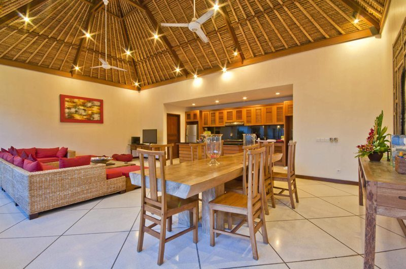 Villa Darma Living, Kitchen and Dining Area, Seminyak | 5 Bedroom Villas Bali