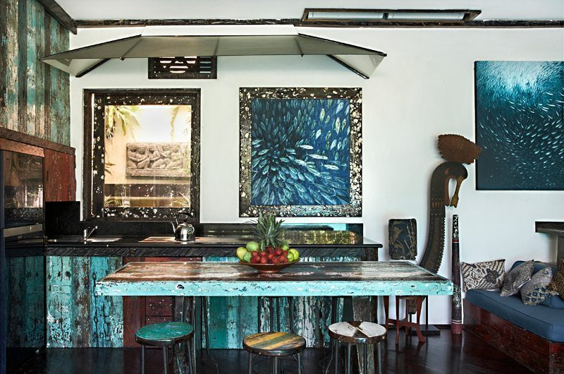 Villa Jempiring Kitchen and Dining Area, Seminyak | 5 Bedroom Villas Bali