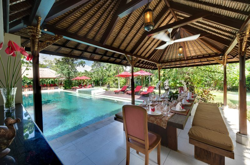 Villa Kalimaya Pool Side Dining, Seminyak | 5 Bedroom Villas Bali