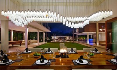 Villa Kalyani Dining Area at Night, Canggu | 5 Bedroom Villas Bali