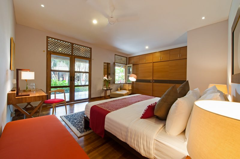 Villa Kinara Bedroom with Study Table, Seminyak | 5 Bedroom Villas Bali