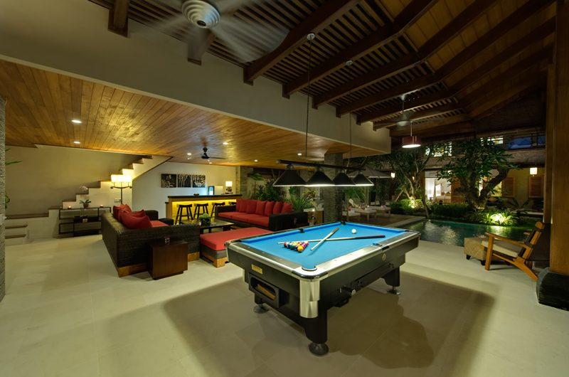 Villa Kinaree Estate Billiard Table, Seminyak | 5 Bedroom Villas Bali