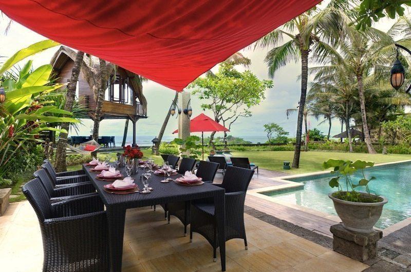 Villa Maridadi Pool Side Dining, Seseh | 5 Bedroom Villas Bali