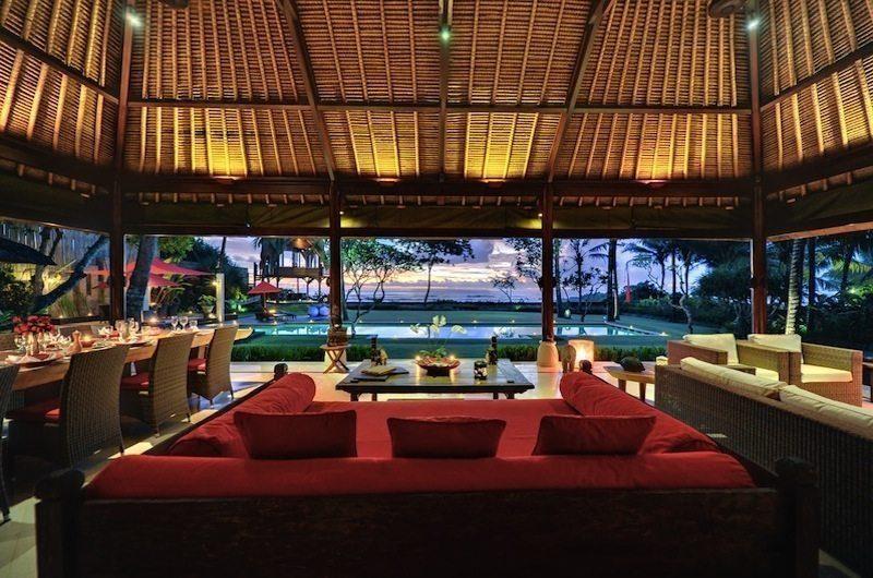 Villa Maridadi Living Area with Pool View, Seseh | 5 Bedroom Villas Bali