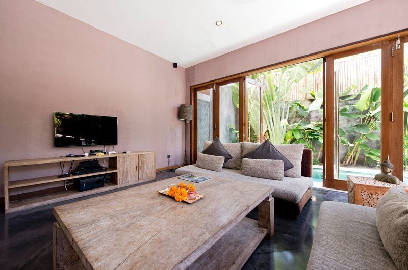 Villa Martine Lounge Area with TV, Seminyak | 5 Bedroom Villas Bali