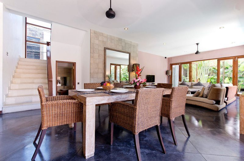 Villa Martine Living and Dining Area, Seminyak | 5 Bedroom Villas Bali