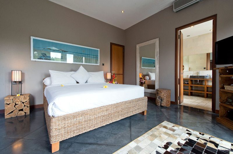 Villa Martine Bedroom with Mirror and TV, Seminyak | 5 Bedroom Villas Bali