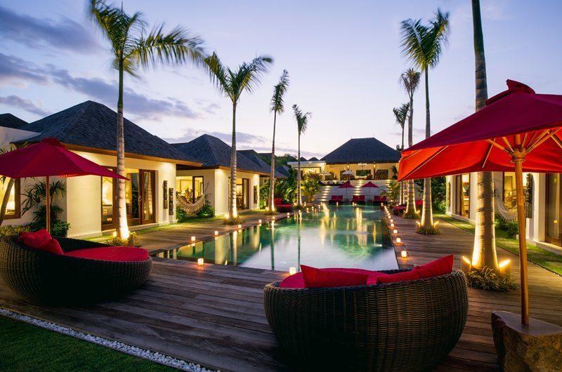 Villa Naty Swimming Pool at Night, Umalas   5 Bedroom Villas Bali