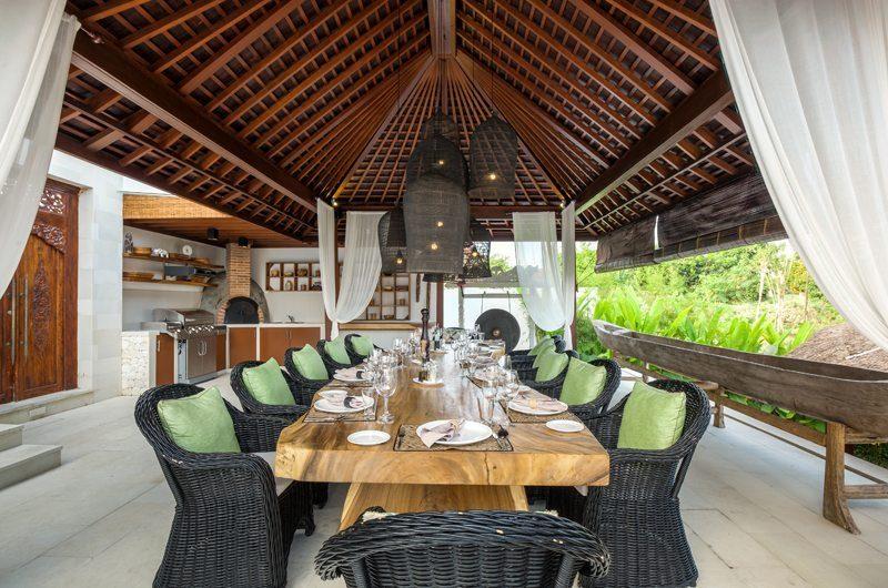 Villa Naty Dining Area with Garden View, Umalas | 5 Bedroom Villas Bali