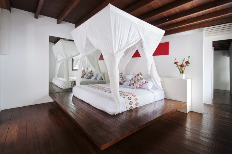 Villa Sabtu Spacious Bedroom with Wooden Floor, Seminyak | 5 Bedroom Villas Bali