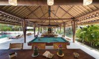 Villa Samadhana Dining Area with Pool View, Sanur | 5 Bedroom Villas Bali