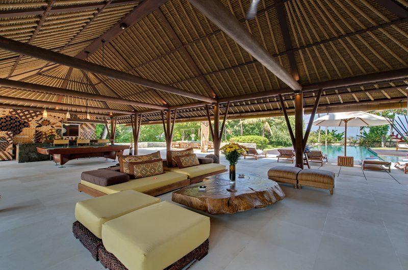 Villa Samadhana Living Area with Pool View, Sanur | 5 Bedroom Villas Bali
