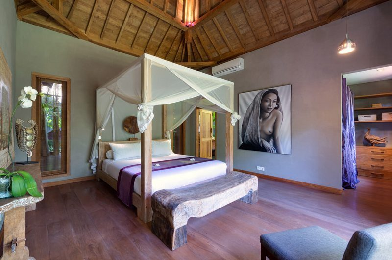 Villa Shambala Bedroom with Wooden Floor, Seminyak | 5 Bedroom Villas Bali