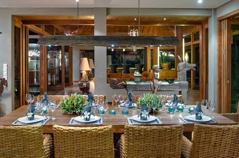Villa Shambala Dining Area, Seminyak   5 Bedroom Villas Bali