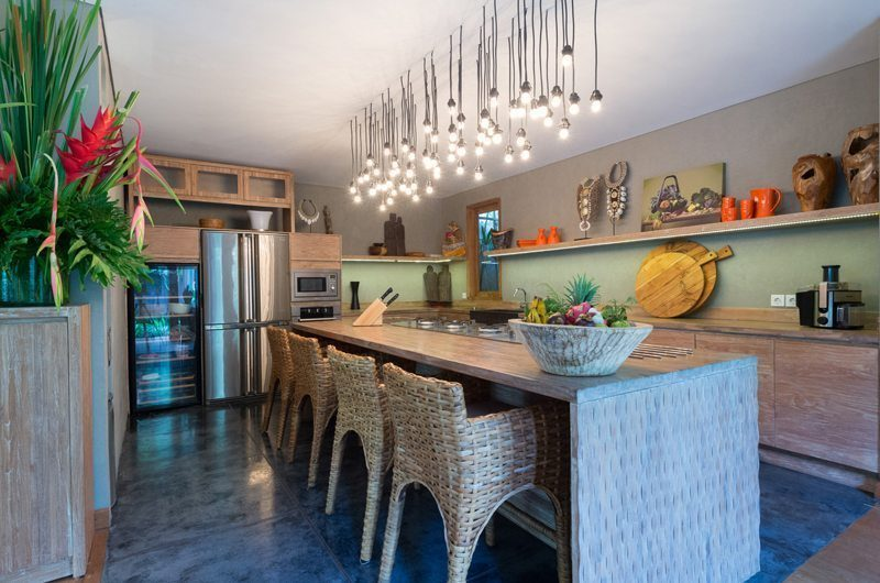 Villa Shambala Kitchen and Dining Area, Seminyak | 5 Bedroom Villas Bali