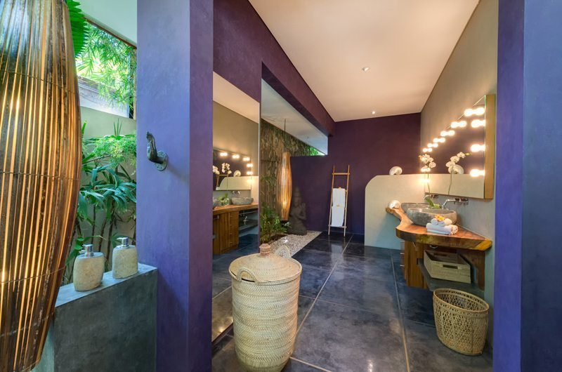 Villa Shambala His and Hers Bathroom, Seminyak | 5 Bedroom Villas Bali