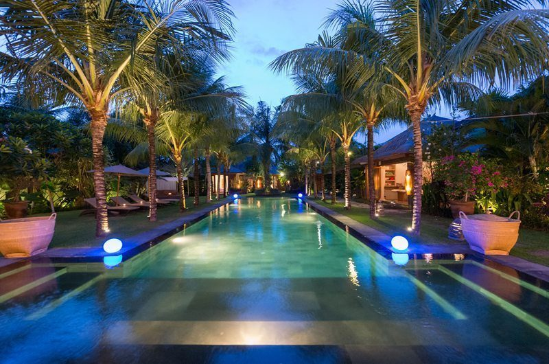 Villa Shambala Pool at Night, Seminyak | 5 Bedroom Villas Bali