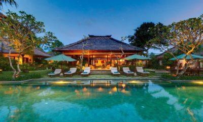 Villa Surya Damai Pool Side at Night, Umalas | 5 Bedroom Villas Bali