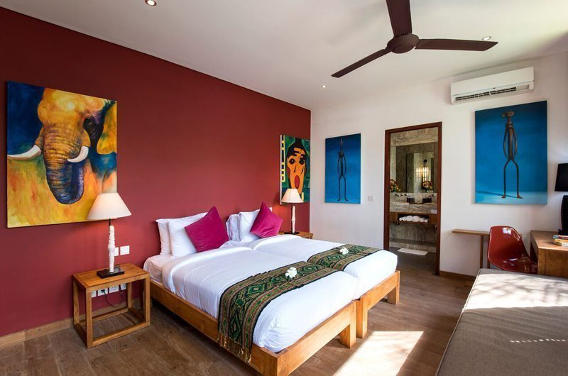 Villa Tangram Bedroom with Seating Area, Seminyak | 5 Bedroom Villas Bali