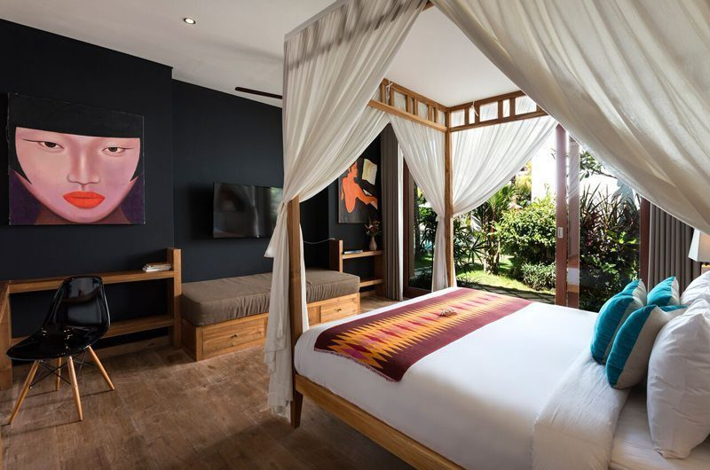 Villa Tangram Bedroom with TV, Seminyak | 5 Bedroom Villas Bali