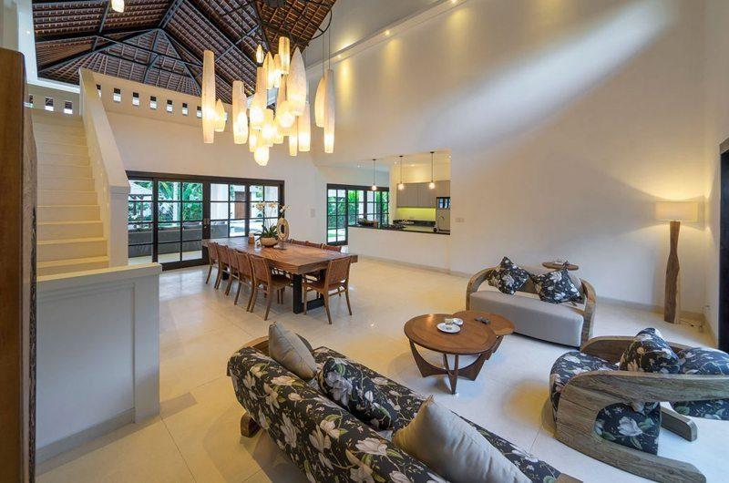 Villa Tjitrap Living, Kitchen and Dining Area, Seminyak | 5 Bedroom Villas Bali