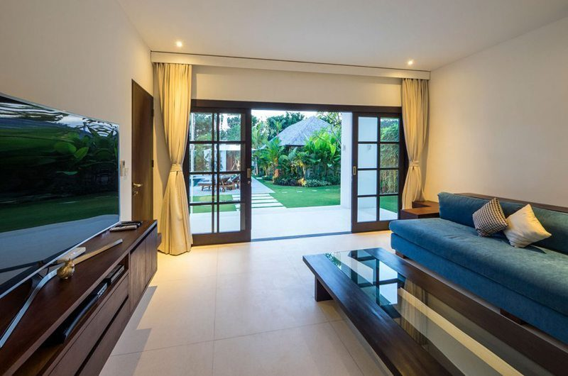 Villa Tjitrap Lounge Area with TV, Seminyak | 5 Bedroom Villas Bali